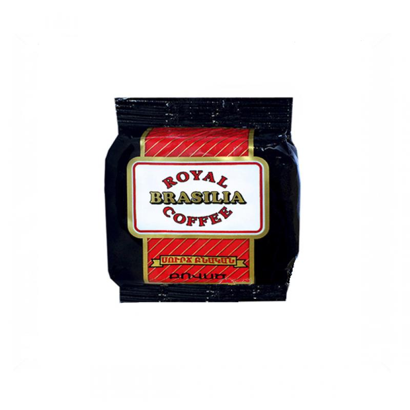 """Кофе """"Royal Brasilia"""" натуральный Прессованный жареный молотый 100 гр"""